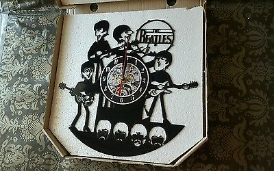 """The BEATLES ~ VINYL Record ~ 12"""" ~ 30cm ~ LP ~ WALL Clock ~ NEW ~ Unwanted GIFT"""