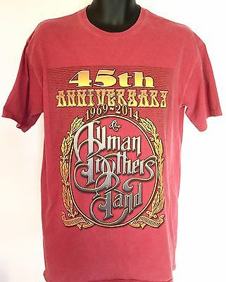 Genuine Allman Brothers Band 45th Anniversary Tour 2014 Concert Shirt SizeMedium