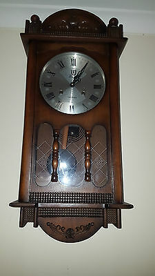 Unique Wooden Chiming Wall Clock 31 day As New, Pick Up only Mt Barker SAust