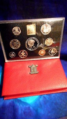 1999 Diana Great Britain  Deluxe Proof Set (9) - £2 Rugby, £5 Diana