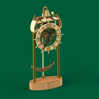Sea Wooden Clock set for assembly, Construction kit, Wood model