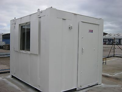 10ft x 8ft Anti Vandal Portable Cabin Site Security Office GREAT CONDITION !