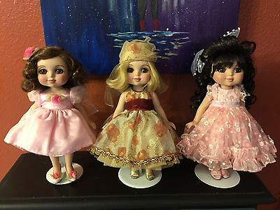 Lot Of 3 Adora Belle Dolls Devine Daises, All You Need Is Love, Trunk Doll Htf
