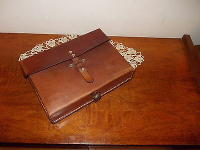 Swiss Army Shoulder Bag Military Maps Card Holder Leather -1977 year