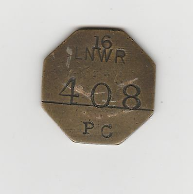 London & North Eastern Railway 16 Longsight Pay Token / Wages Check.