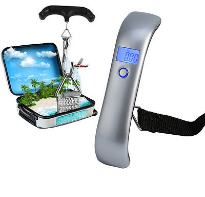 50kg/10g LCD Pocket Digital Scale Electronic Hanging Luggage Hook Weight