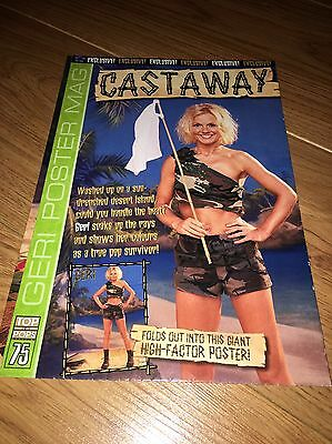 GERI HALLIWELL [SPICE GIRLS]:::'CASTAWAY' TOP OF THE POPS POSTER MAGAZINE::no.75