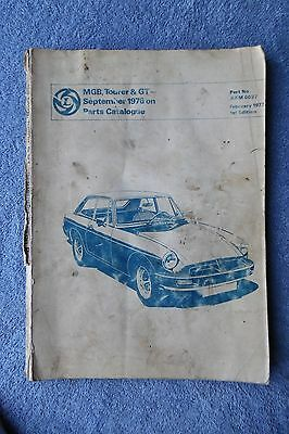 Mgb Tourer & Gt Parts Catalogue 1976 On