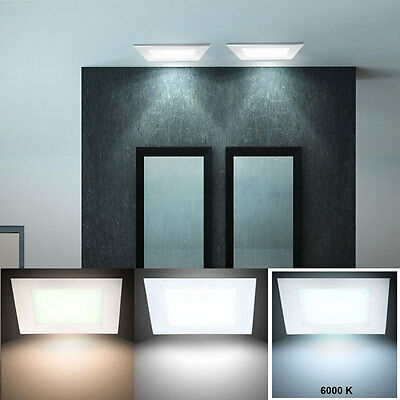 led 22 watt decken panel leuchte alu wohnraum strahler lampe tageslicht eek a eur 19 90. Black Bedroom Furniture Sets. Home Design Ideas