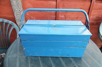 Vintage Used Cantilever Tool Box Blue