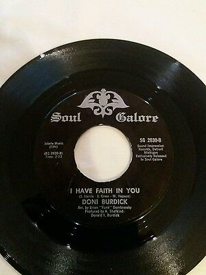 Northern soul record Doni Burdick. I have faith in you.Bari Track.
