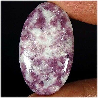 53.10Cts. 100% NATURAL FABULOUS LEPIDOLITE OVAL CABOCHON LOOSE GEMSTONES