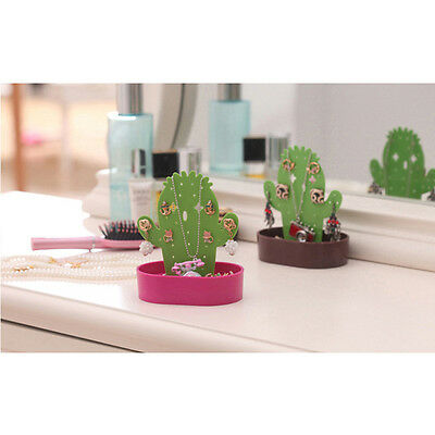 Holder Display Stand Necklace Ring Hanging Jewelry Cute Cactus Earring Organizer