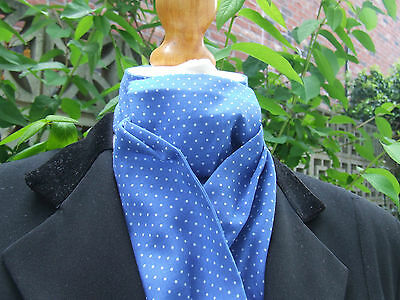 blue with white pin dot ready tied stock