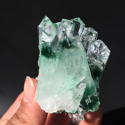 91g Clear  Beautiful Green ghost quartz Crystal Cluster mineral specimen 898
