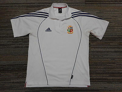 British Lions Rugby Polo Shirt Adidas Mens Med