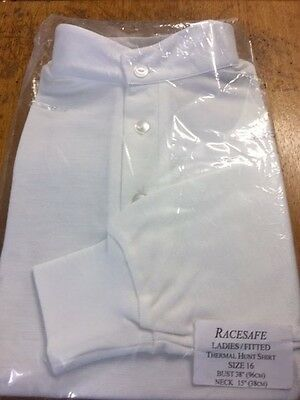 racesafe ladies fitted thermal stock shirt size 16