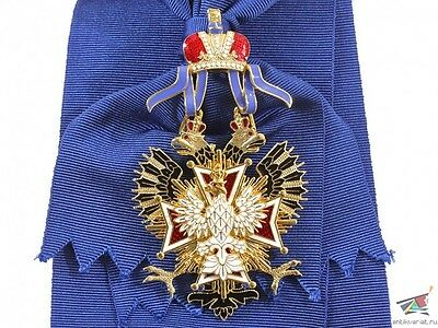 The Order of the White Eagle, Russia, brass, gold plated, Replica