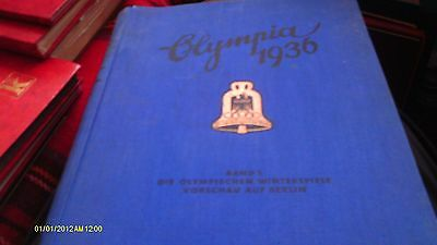 Antique 1936 WINTER OLYMPICS PHOTO CARD ALBUM AND ALL PHOTO CARDS RARE