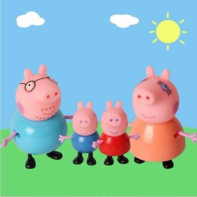 Peppa Pig Toy Family Action Figures Toys Gift Daddy Mummy Kids Playset Gift 4PCS