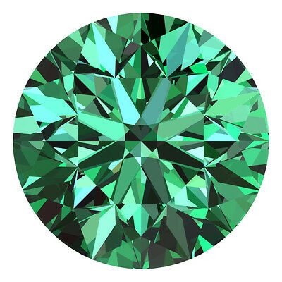 2.4 MM CERTIFIED Round Fancy Green Color VS 100% Real Loose Natural Diamond #G