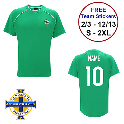 PERSONALISED NAME NUMBER Northern Ireland FC Official football T-shirt  Adults