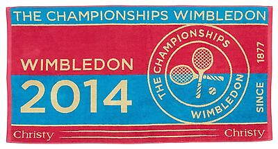 GENUINE OFFICIAL WIMBLEDON CHAMPIONSHIPS TENNIS 2014 TOWEL SOLD OUT 2016 final