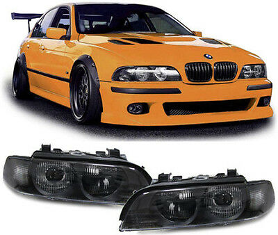 black color finish projector D2S xenon headlights front lights for BMW E39 95-00