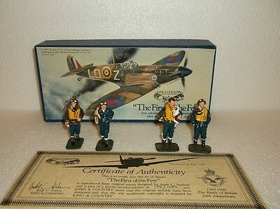 King and Country ''The first of the few'' 50th anniversary  4 RAF glossy pilots