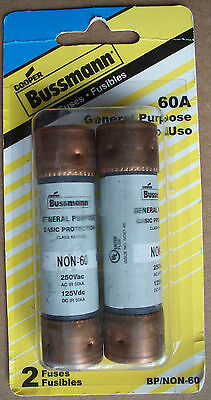 Cooper Bussmann 2-Pack 60-Amp General Purpose Cartridge Fuse BP/NON-60 - Save 2+