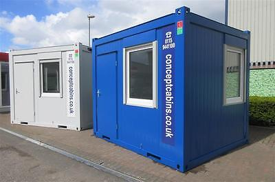 New 10' x 8' / 3m x 2.4m Anti-Vandal Open Plan Units ....REDUCED FROM £4950!...
