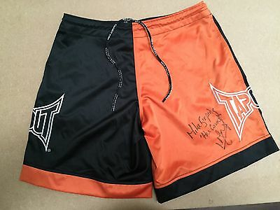 Michael Bisping Hand Signed UFC Shorts The Count Tap Out RARE COA