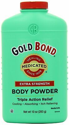 Gold Bond Medicated Body Powder Extra Strength - 10.0 Ounce (Pack Of 3)