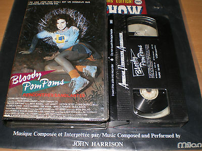 vhs-bloody pom poms-tres rare!!!!american producer associated