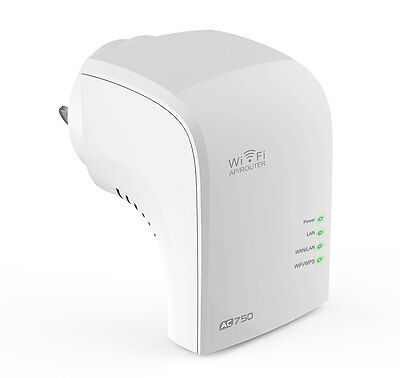 * NEW * Minitar Wireless AC750 Repeater Wifi Dual Band Network Range Extender