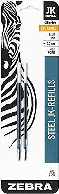 Zebra Pen Zebra JK-Refill, 0.7mm, Blue, 2 Pack (88122)