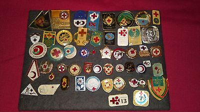 Lot Of 50 Bulgarian And Foreign Red Cross And Red Crescent Badges