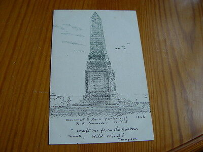 TOP2995 - Postcard - Monument Lord Yarborough First Commander R.Y.S.