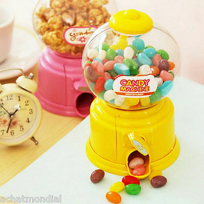 Mini Candy Machine Bubble Gumball Dispenser Coin Bank Storage Box Kids Toy Gifts