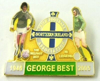 Northern Ireland Supporters Badge - George Best - Ni Legends
