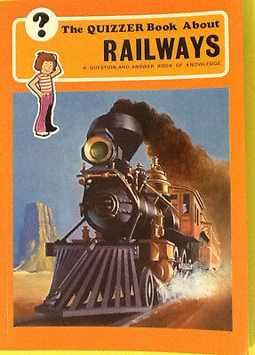 RAILWAY BOOK: The QUIZZER Book About RAILWAYS.