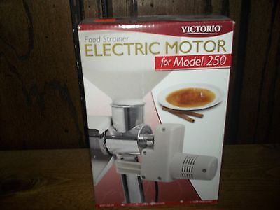 Victorio Electric Motor for Model 250  Brand New in sealed package