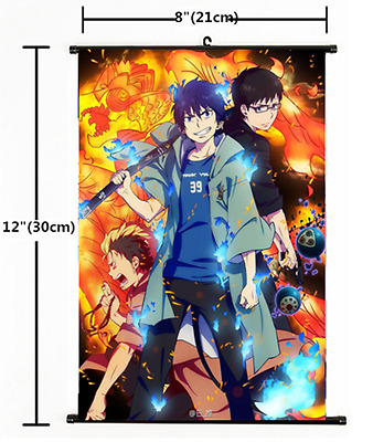 Japan Anime Ao no Exorcist okumura rin Wall Scroll Poster cosplay 1580