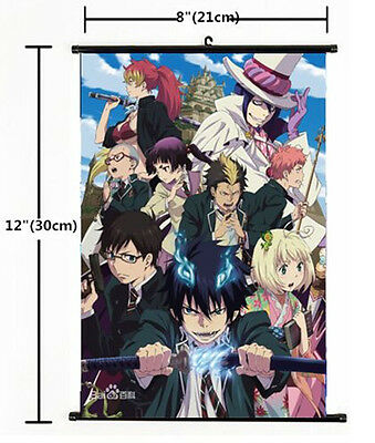 Japan Anime Ao no Exorcist okumura rin Wall Scroll Poster cosplay 1583
