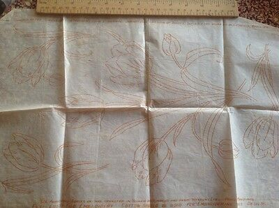 1920 vintage Weldons embroidery transfer tulips