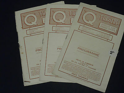 3 x  Old  - Q Theatre Programmes late 1940's?