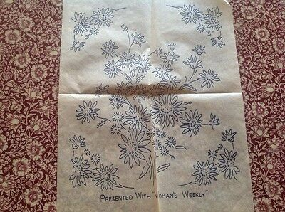 vintage embroidery transfer for traycloth