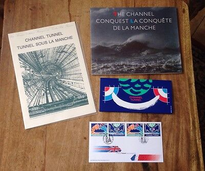 Channel Tunnel Stamps Royal Mail Collection + Book  #a