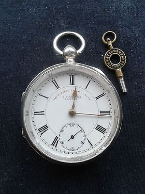 1901 working J G GRAVES (EXPRESS ENGLISH LEVER )SILVER POCKET WATCH AND KEY
