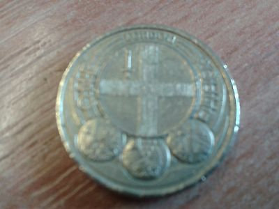 2010 London cities £1 pound coin.